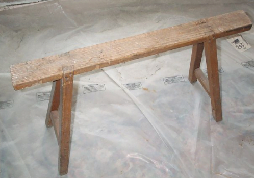wooden saw bench