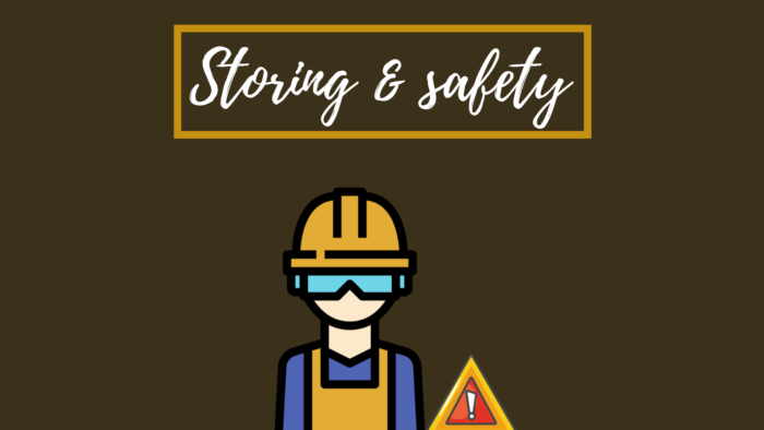 Storing & safety when working with your palm sander