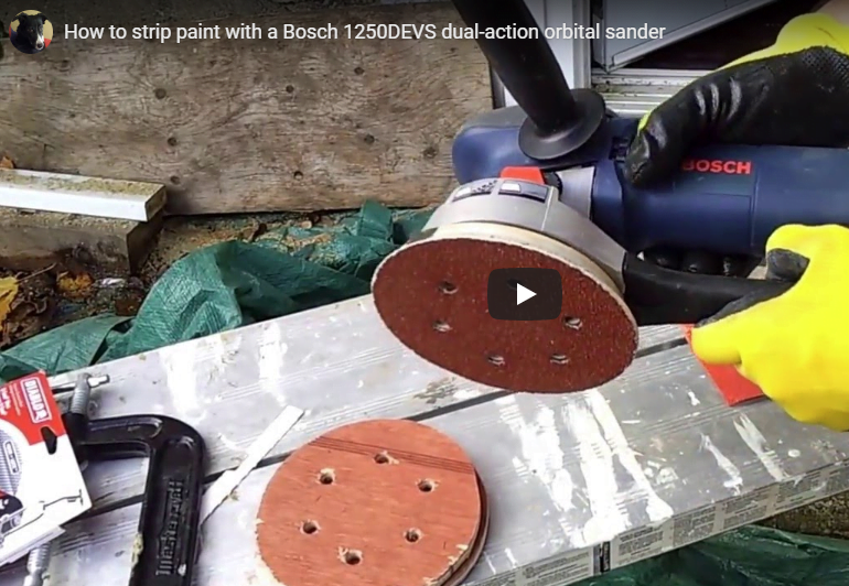 how to strip paint with a bosch orbital sander